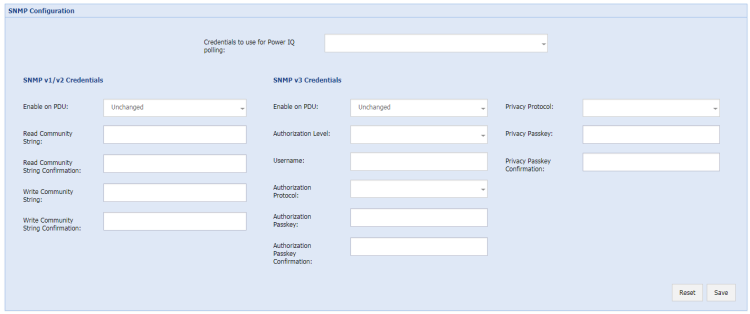 Configuring SNMP Settings for Facility Items in Bulk