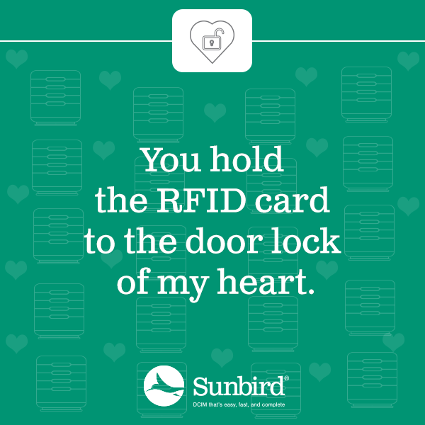You hold the RFID card to the door lock of my heart.