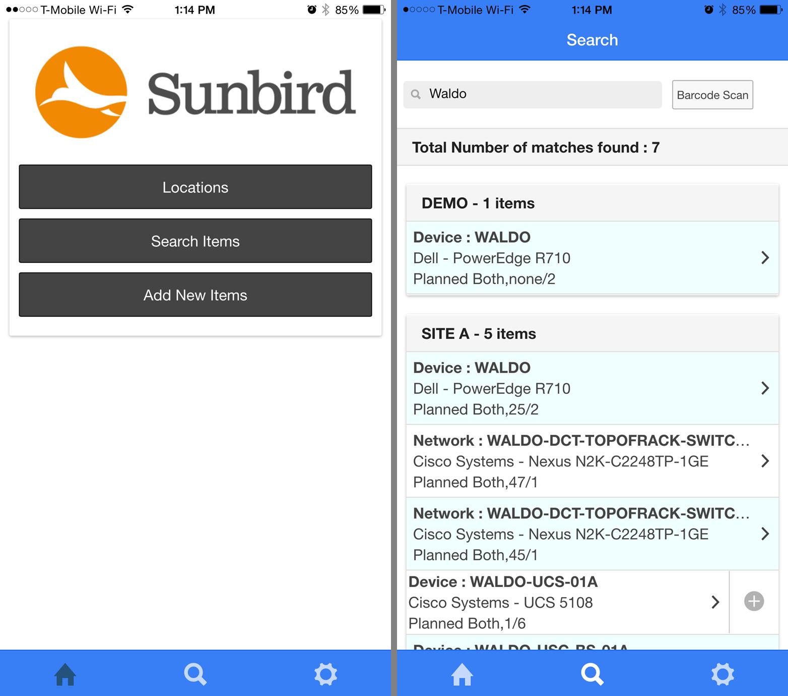 Screenshot of Paperless Audit Mobile App