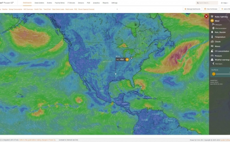 Screenshot of Live Weather Maps