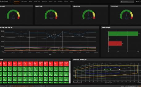 Screenshot of Health and Capacity Widgets - Dark Mode