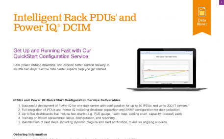 Intelligent Rack PDUs1 And Power IQ DCIM