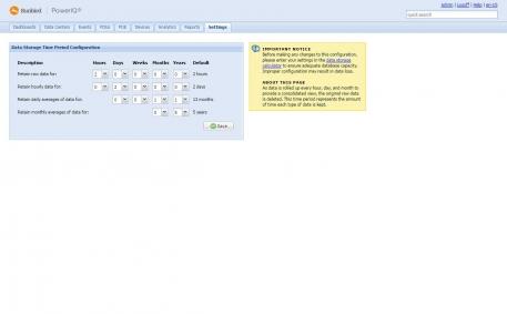 User Configurable Data Retention Period